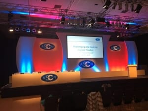 Conference Stage set