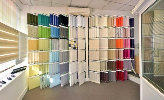 Insignia Blinds Showroom Poole blinds samples
