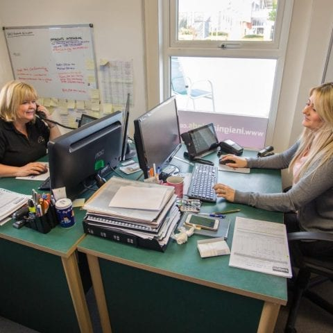Lisa and Jess - Showroom manager and Sales admin