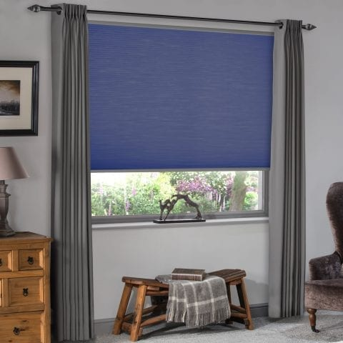 Pleated roller blinds from Insignia Blinds
