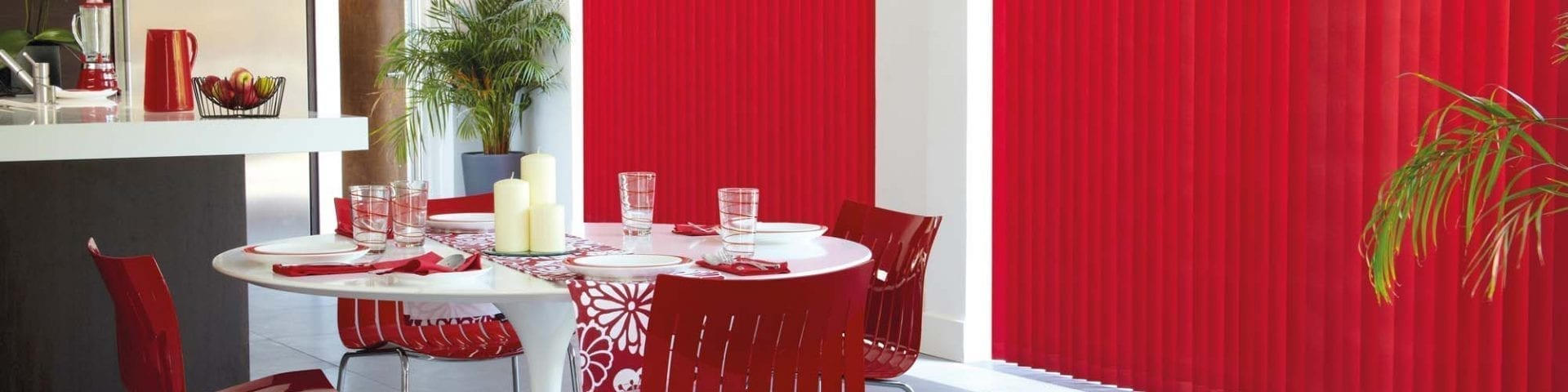 Vertical kitchen blinds from Insignia Blinds