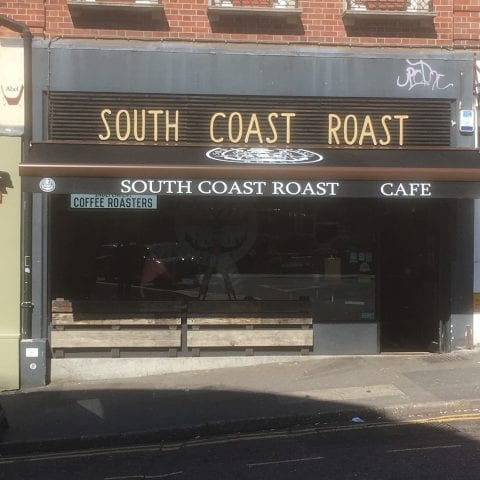 Custom canopy for South Coast Roast Cafe