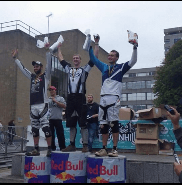 Ben Moore 1st place Plymouth Urban Downhill