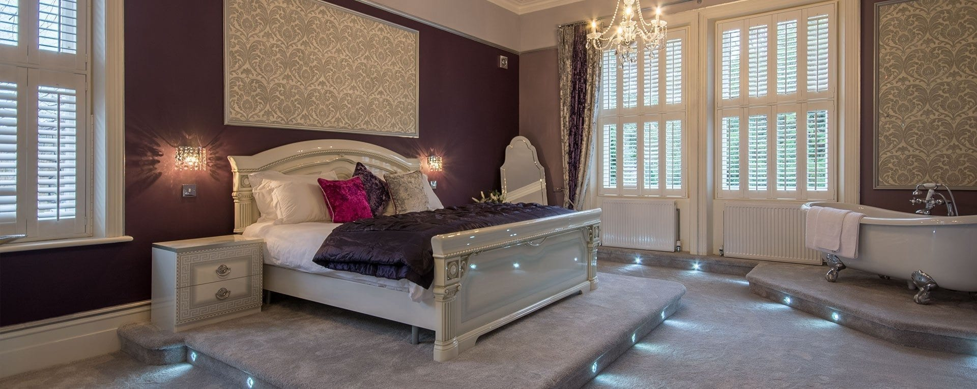 Gold Cup bridal suite at the Derby Manor in Bournemouth