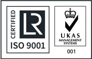 ISO 9001 and UKAS logo